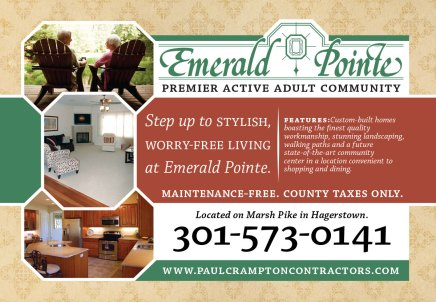 A back-lit display advertising Paul Crampton Contractors' active adult community, Emerald Pointe. This was designed by me as part of the team at Icon Graphics.